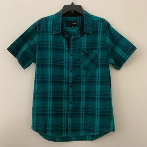 Plaid Button-Up Collared Hurley Shirt